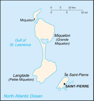 Carte de Saint-Pierre et Miquelon